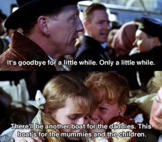 Titanic - This scene gets to me every time, cuz in real life, the father didn't survive. Titanic Movie Scenes, Titanic Movie Facts, Titanic Quotes, Sad Movies, 2 Movie, Great Movies, Titanic Rose, Rms Titanic, Titanic Art