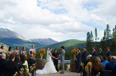 Stunning fall ceremony at TenMile Station, Breckenridge, CO http://www.iconicweddings.com/Destinations/Breckenridge.aspx #mountainwedding