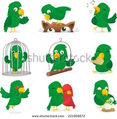 talking parrot flat logo icon - Google Search