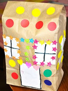 Paperbag House (Simple Paper Bag Craft for Preschoolers or Toddlers)