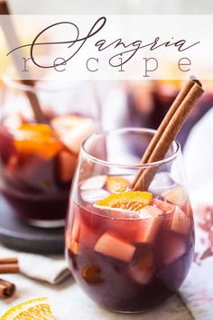 Easy Sangria Recipe: Perfect balance of fruit, wine, brandy & spices. So authentic & delicious all-year round! #sangria #recipes #recipeseasy #fall #recipesred #redwine #red #summer #apple #recipeseasyred #4thofjuly #easy #halloween #howtomake #homemade #autumn #fourthofjuly #christmas #camping #thanksgiving #spanish #best #sparkling #recipeseasyredsweet #summerredwine #diy #foracrowd #simple #bakingamoment Red Sangria Recipes, Drink Recipes, Spanish Red Wine, Frozen Sangria, How To Make Sangria, Lime Soda, Party Food And Drinks, Apple Recipes, Easy Recipes