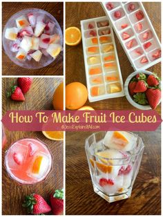 So I've been seeing beautiful ice cubes all over pinterest and I decided it was high time to make my own! Check out my post on how to make fruit ice cubes!