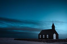 ⁜ black church / blue by Andy Lee