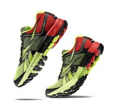 Reebok  Mens Reebok One Cushion Yellow Black Red Lowtop Shoes Size 115 DM US Color Neon Yellow Black Techy Red *** Click on the image for additional details.(This is an Amazon affiliate link and I receive a commission for the sales)