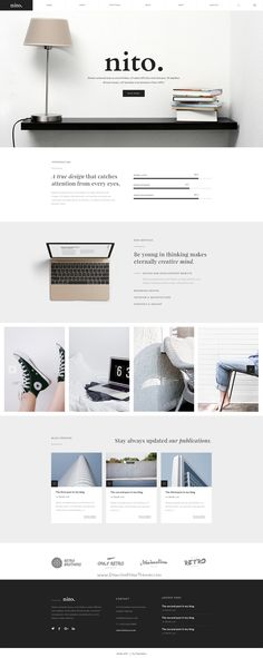 Nito is a clean & #minimal 8 in 1 premium #PSD template for multipurpose #website. Download Now!