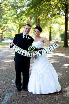 Wedding Thank You Banner by TheSweetestEvents on Etsy, via Etsy.