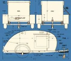 Only a fraction of size & weight of full size trailer, this 10 ft teardrop camper can go wherever a car will go, with a double berth and kitchenette. Building A Teardrop Trailer, Teardrop Trailer Plans, Travel Trailer Floor Plans, Trailer Diy, Small Trailer, Trailer Build, Do It Yourself Camper, Homemade Trailer, Teardrop Camping
