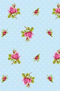 PiP Roses and Dots Blauw behang
