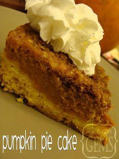 Pumpkin Pie Cake - making this