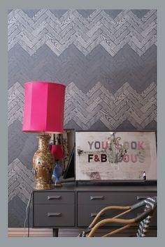 Farrow & Ball 'Parquet BP 4105' wallpaper pattern