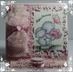 handmade birthday card made for Papercraft Inspirations 150th edition (Wild Rose Studio) Downrightcrafty