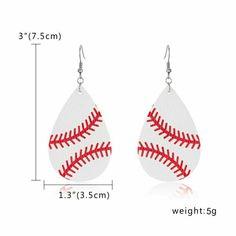 Fish Hook Earrings, Leather Earrings, Women's Earrings, Pierced Earrings, Pendant Earrings, Shape Patterns, Print Patterns, Flag Football, Baseball