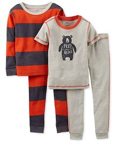 Carter's Baby Boys' 4-Piece Bear Pajamas