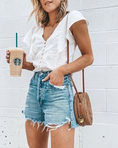 Casual Summer Outfits For Women, Spring Outfits Women, Cute Casual Outfits, Short Outfits, Edgy Outfits, Outfit Summer, Winter Outfits, Instagram Outfits, Outfit Invierno