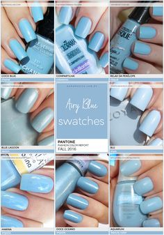Pantone Fashion Color Report FALL 2016 | 2/10 | Airy Blue - Unha Bonita