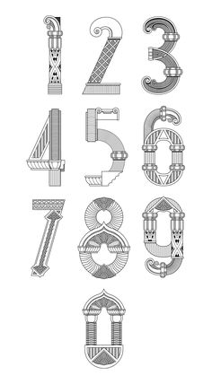Los números del art-decó valenciano