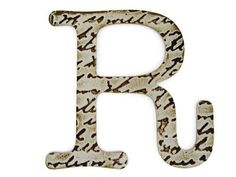 Chipboard letter R, 4 inch embossed letter, baby shower decor, wall decor, table decor, wedding decoration, custom sayings, names by OurPlaceToNest on Etsy