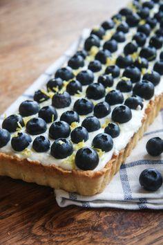 Blueberry, Lemon and Mascarpone Tart!!