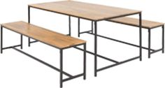 Lomond Dining Table Set, Mango Wood and Black from Made.com. Dark Wood/Black. The Lomond has a vintage, industrial feel, just like a carpenters work..