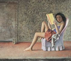 painting by polish/french painter balthus of a girl reading in a chair Reading Art, Woman Reading, Reading Books, Modern Artists, French Artists, Paul Gauguin, Figure Painting, Painting & Drawing, Human Painting