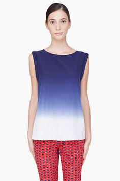 MARC BY MARC JACOBS Silk Blend Aurora Shadow Top