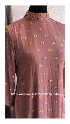 Super sewing patterns for teens inspiration 41 ideas Designer Party Wear Dresses, Kurti Designs Party Wear, Indian Designer Outfits, Kurti Embroidery Design, Embroidery Suits, Embroidery Fashion, Kurti Sleeves Design, Kurta Neck Design, Latest Salwar Suit Designs