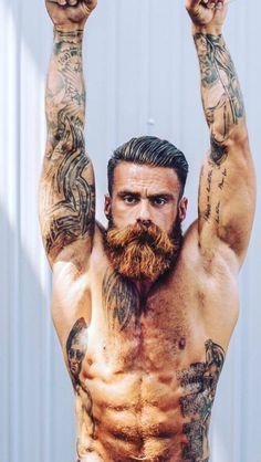 Beard styles 561261172303686495 - Muscle Beard Source by Kakhazein Grow A Thicker Beard, Thick Beard, Hairy Men, Bearded Men, Men Beard, Sexy Bart, Hair And Beard Styles, Hair Styles, Beard Styles