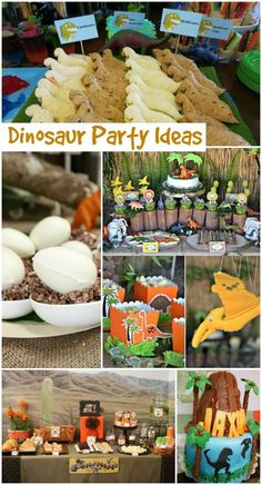 Time for an epic Dinosaur Birthday Party. Time for an epic Dinosaur Birthday Party. Jurassic Park Party, Party Fiesta, Festa Party, Dinosaur Birthday Party, 4th Birthday Parties, Dinosaur Themed Food, Dinosaur Snacks, Dinosaur Dinosaur, Third Birthday