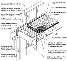 Construcción con Acero Liviano: 6.0 Techos | Consul Steel Steel Frame Construction, Construction Drawings, Greenhouse Kitchen, Steel Framing, Electrical Cad, Steel Frame House, Steel Deck, House Roof, Urban Design