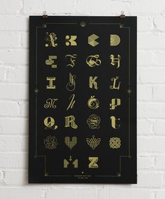 Cast of Characters — A Typographic Poster Design by Lesli Ink, via Print Magazine