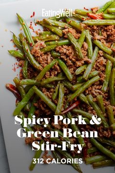 This vibrant, lip-tingling Sichuan stir-fry is ready in just 20 minutes. Reddish-brown Sichuan peppercorns—which are technically a dried berry husk—have a tart and slightly woodsy flavor beneath their slow-burning heat. This dish is just 312 calories per serving! #dinner #supper #dinnerideas #supperideas #dinnerrecipes #supperrecipes #healthydinnerideas #healthysupperideas #healthydinnerrecipes #healthysupperrecipes #recipe #eatingwell #healthy Supper Recipes, Delicious Dinner Recipes, Side Dish Recipes, Asian Recipes, Beef Recipes, Cooking Recipes, Healthy Recipes, Pork Stir Fry, Get Skinny