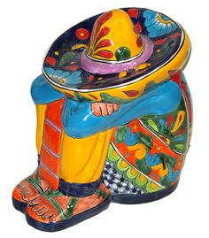 I have a guy just like this on my deck, we call him Pedro. Mexican Style Decor, Mexican Kitchen Decor, Mexican Folk Art, Mexican Kitchens, Mexican Garden, Mexican Paintings, Mexico Style, Talavera Pottery, Native American Pottery