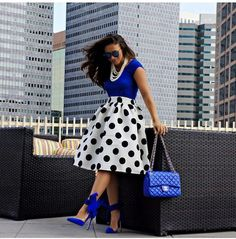 My goal is to have one polka dot skirt and dress love the look it gives