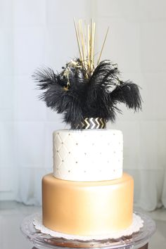 Check out this item in my Etsy shop https://www.etsy.com/listing/266322443/gatsby-feather-sparkler-cake-topper