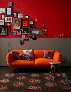 Why Bright Red Home Decor Inspiration is The Way To Go! Decorating Your Home, Interior Decorating, Interior Design, Simple Interior, Decorating Ideas, Oranges Sofa, Deco Orange, Sweet Home, Red Home Decor