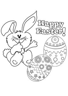 happy easter coloring pages printable - Happy Easter Coloring Pages