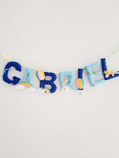 Hot air balloon theme garland
