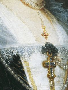 Marie Louise de Tassis (Détail) Anthony Van Dyck 1629