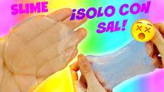 Haz SLIME solo con pegamento y sal   SLIME CRISTAL - TRASPARENTE