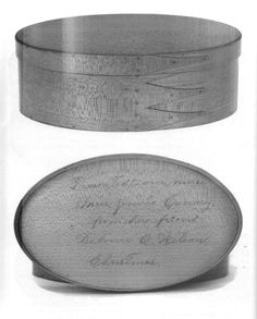 An oval box made by Brother Delmer Wilson. Sabbathday Lake Shaker Village, ME