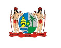 Suriname, South America! This small country north of Brazil adopted its current coat of arms in 1975. The Dutch speaking country uses 3 simple Latin words in its motto: Justitia-Pietas-Fides are three noble characteristics (Justice, Piety (Duty), and Faithfulness.