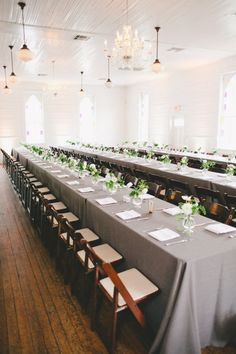 Love the long tables....
