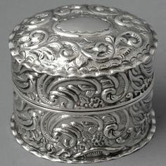 antique sterling silver ring box