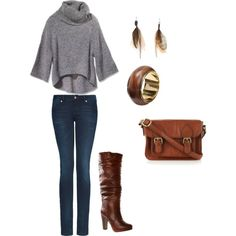 I'm simple... Luv sweater & boots