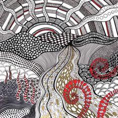 River of Gold Original Sharpie Doodle Tangle Doodle, Doodles Zentangles, Zen Doodle, Gold Sharpie, Sharpie Art, Sharpies, Sharpie Drawings, Sharpie Doodles, Doodle Patterns