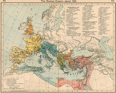 ancient maps | Old Roman Empire Map