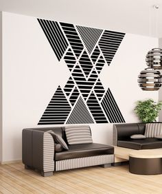 Vinyl Wall Decal Sticker Double Vision Mountains Stickerbrand wall art decals, wall graphics and wall murals. Home Wall Decor, Room Decor, Wall Design, House Design, Vinyl Wall Decals, Wall Stickers, Wall Murals, Living Room Designs, Interior Design