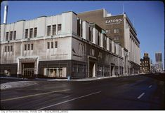 lost toronto: Eaton's College Store/The Carlu Eaton College, College Store, Yonge Street, Interior Columns, New York Architecture, Parks Canada, Art Deco Buildings, Department Store