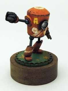 Scale model robot by Cyril. Pinned by #relicmodels