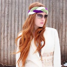 DIY Knitted Headband - http://www.diycraftsblog.com/diy-knitted-headband/ #Headband, #Knitted
